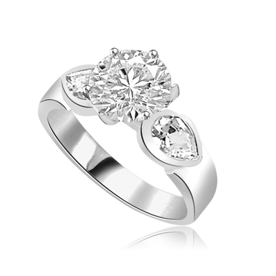 2 cts Blithe and bright ring in white Gold