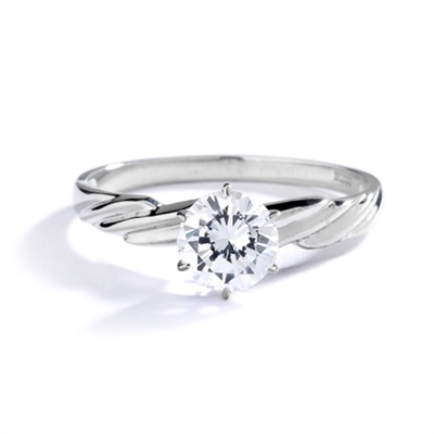Ring – 1 ct round stone set with 6 prongs