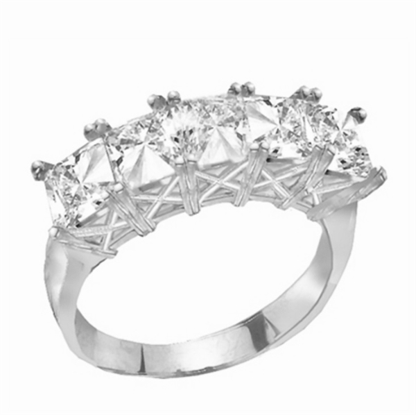 Sweet Love-Cool princess band in White Gold