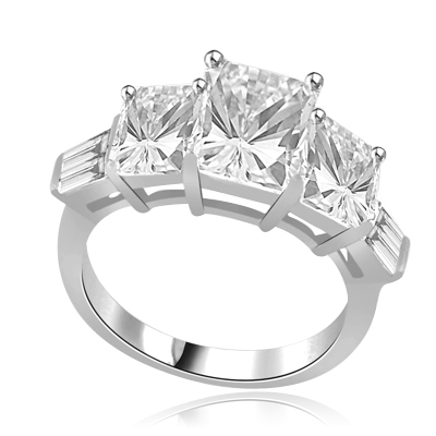 Aspen-Imposing ring in 14K Solid White Gold
