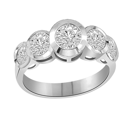 Five Alarm Fire-Beautiful ring set in 14K Solid WhiteGold