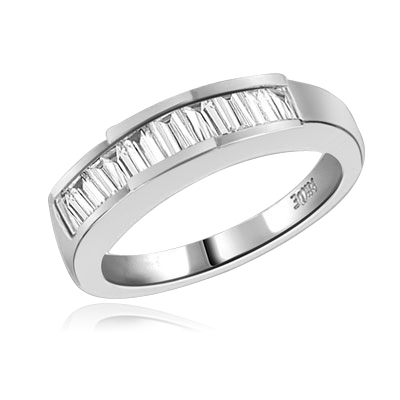 Eternity Band—Channel-set in white gold