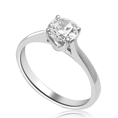 A perfect solitaire to propose! Beautiful Tiffany set 0.75 Ct. Ring set in 14K Solid White Gold.