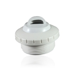 "1 1/2"" THREADED RETURN WITH 1"" OPENING LT GRY"