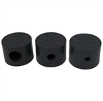 PCC 2000 STEP NOZZLE CAPS (3 PIECES - 1/4, 3/8, 5/8, - 1 EACH) BLK