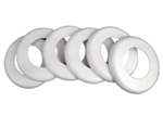 WALL FITTING EXCUTCHEON (6 PIECES) WHT