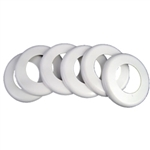 WALL FITTING EXCUTCHEON (6 PIECES) LT GRY