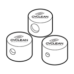 NOZZ SNAP CAP CYCLEAN 3 PC WHT
