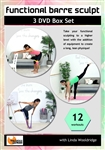 Barlates Body Blitz Functional Barre Sculpt 3 DVD Set - Linda Wooldridge - 12 Workouts