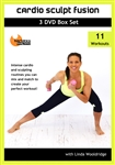 Barlates Body Blitz Cardio Sculpt Fusion 11 Workout DVD Set with Linda Wooldridge