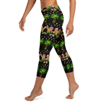 Christmas in Hawaii Capri Leggings - 4 Color Choices & Regular or Wide Waistband