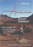 Walk Across America Program 50 Workouts / 50 States with Jenny Ford - 10 DVD Set