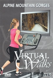 Alpine Mountain Gorges Virtual Walk Treadmill or Elliptical Workout - The Ambient Collection
