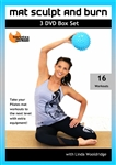 Mat Sculpt and Burn 3 DVD Set - Linda Wooldridge