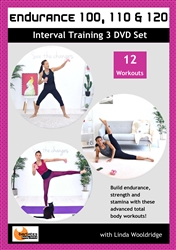 Barlates Body Blitz Endurance 100, 110, & 120 Interval Training 3 DVD Set - Linda Wooldridge - 12 Workouts