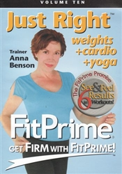 Fit Prime Just Right DVD - Anna Benson