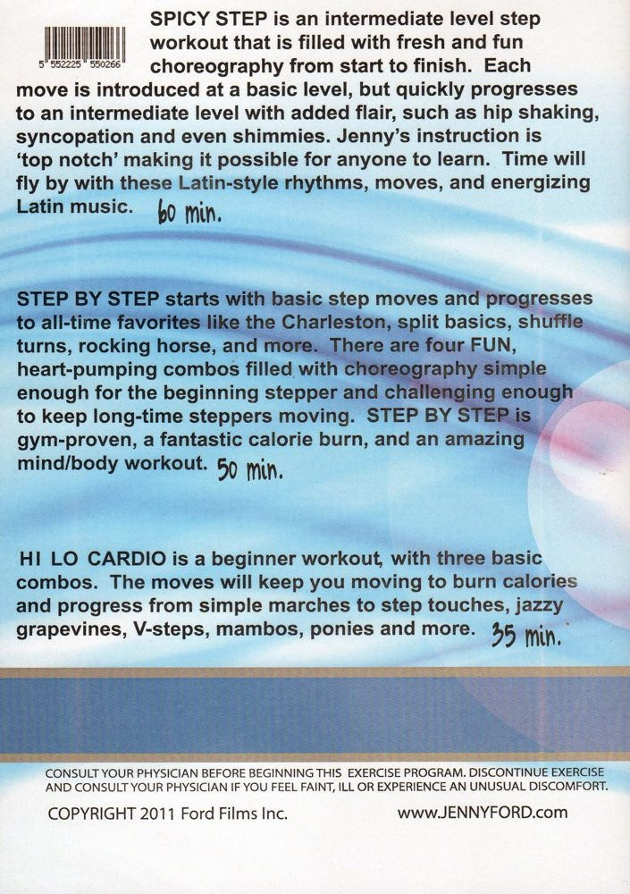 Jenny Ford 3 Workouts DVD
