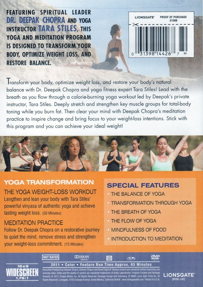 Yoga Transformation Weight Loss Balance