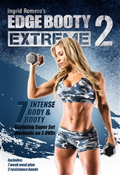 Edge Booty Extreme Volume 2 DVD Set & Bands - Ingrid Romero