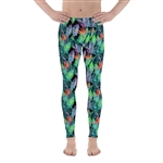 Bird of Paradise Hawaiian Floral and Tropical Fern Men's Leggings