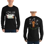 Christmas - Merry Fitness and a Happy New Rear Men's Long sleeve t-shirt