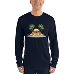 Christmas in Hawaii - Happy Huladays / Mele Kalikimaka Men's Long sleeve t-shirt
