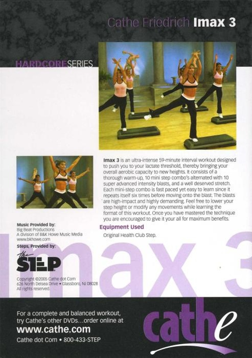 DVDs Imax 3 Step Aerobic Exercise Fitness Cathe Friedrich Lot 4