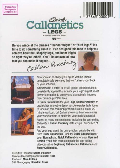 Quick callanetics legs dvd.