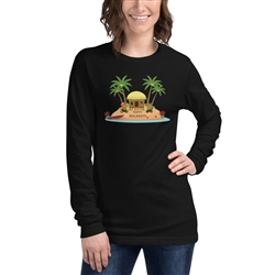 Christmas in Hawaii - Happy Huladays / Mele Kalikimaka Women's Long Sleeve Tee