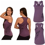 Women's Blend Racerback Tank - Double Plumeria Design