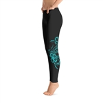 Hawaiian Hibiscus Tattoo Long Yoga Leggings - 7 colors available