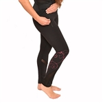 Hibiscus with Mesh Long Yoga Pants