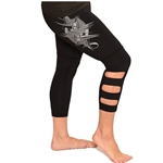 Ikaika Crop Yoga Pants with Cut Outs