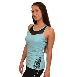 Koru Rackerback tank - Built in Bra with Removable Cups