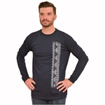 Men's Long Sleeve Cotton Shirt with Samoan Print