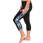 Tropical Fern Crop Yoga Pants