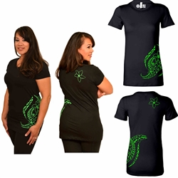 Women's Short Sleeve T-Shirt - Triple Plumeria Design