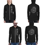 Unisex Triblend Lightweight Zip up Hoodie (Hooded Sweatshirt) - Mahina Samoan Tattoo Collection