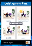 Quiet Quarantine 4 Workouts - Barlates Body Blitz - DVD-R