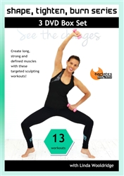 Barlates Shape, Tighten, Burn Series 13 Workouts 3 DVD Set - Barlates Body Blitz - DVD-R