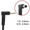 Dongle connector cord for HP laptops 4.5 mm-3.0 mm connector to standard hp ac adapter plug size of 7.5mm-5.00 mm