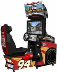 "Nascar Team Racing Sit Down Driving Arcade, Global VR Nascar Team Racing 32"" Sit Down Driver"