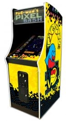 Pac-man's Pixel Bash Upright Arcade with Coin