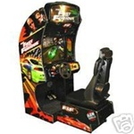 "The Fast and the Furious 27"" Sit Down Driver Arcade"