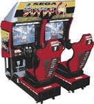 Sega Super GT Dual Sit Down Driver Arcade (Pre-Played)