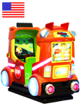 Rocket School Bus Kiddie Ride