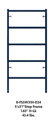 3 X 6 7 Quot Waco Blue B Size Ladder Frame H Lock