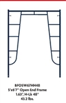 "5' X 6'7"" Waco Blue B-Size Open End Walk-thru Frame (H-Lock)"