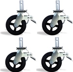 Scaffolding 8inch Locking Caster Set