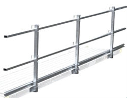 24' Guard Rail System with Toe Board